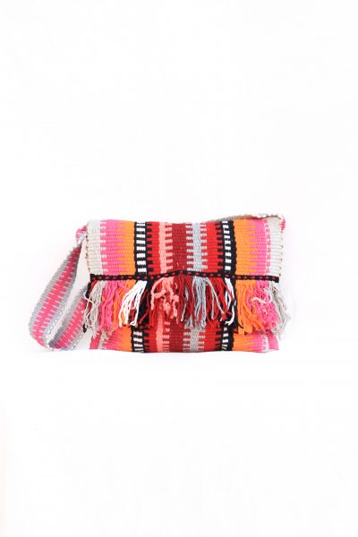 handwoven laptop bag with tassels