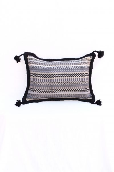 handwoven pillow cover with tassels
