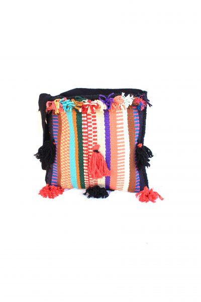 handwoven cross bag with tassels