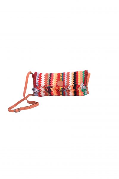 handcrafted clutch with tassels