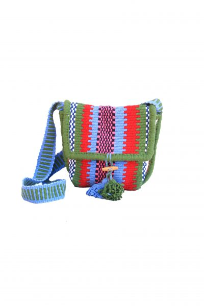 handcrafted cross bag with tassels