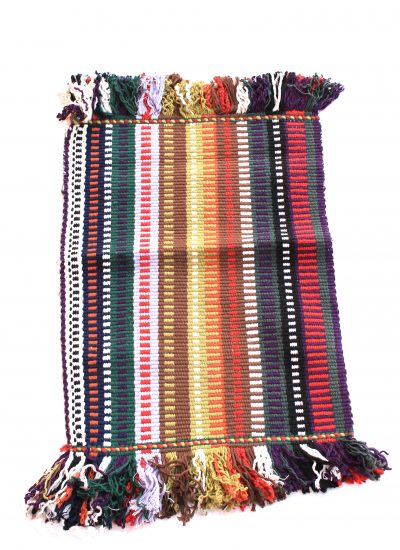 handcrafted bathmat fringed