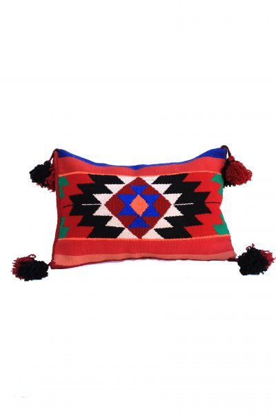 handmade pillow cover with tassels