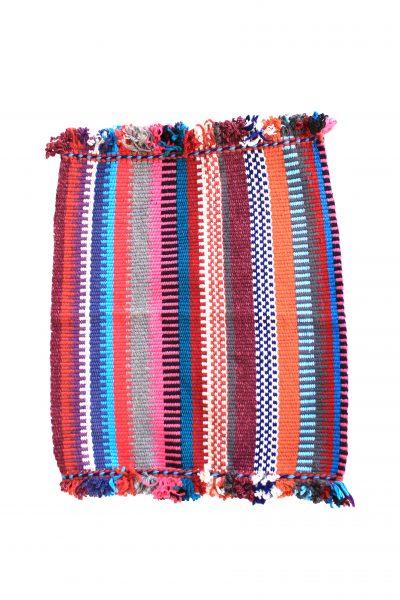 handwoven bathmat fringed