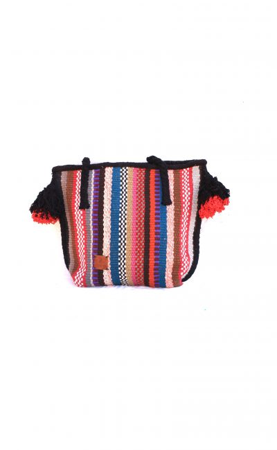 handmade tote bag with tassels