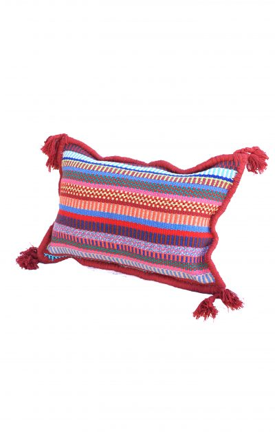 handcrafted pillow cover with tassels