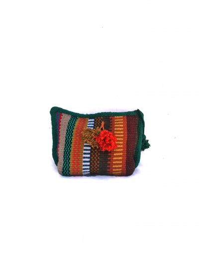 handcrafted toiletry bag with zip and tassels